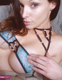Angelina Stevens is a sexy vixen in blue lace