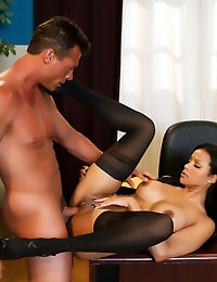 Mary Jean wants nothing more than to please her boss Nick Manning so when he tosses her on his desk she knows she is in for a cock ride.