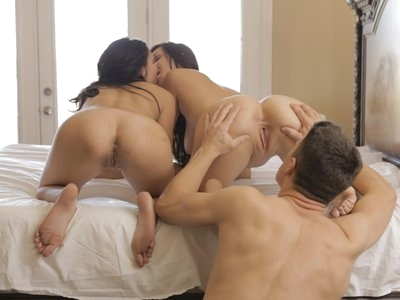 Big breasted hotties Holly Michaels and Ariana Marie turn a hot wet massage into a raunchy pussy pleasing threesome