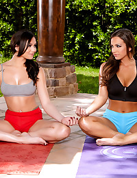 Abigail Mac and Ariana Marie enjoy licking on their juicy boobies and pussies