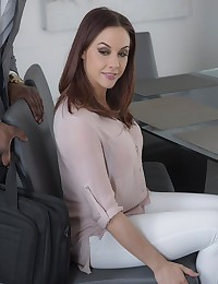 Before the ink had even dried on her divorce, Chanel Preston was already making a move on the man of her dreams: her hunky lawyer Rod. As her wedding ring clinked on the table, Chanel laid it all out, explaining that desire for black dick had given her a raging thirst only his cum could quench. You can bet Rob was game to help his recently divorced client get her groove back, and dropped his pants so she could wrap two-hands around his shaft and give him a sloppy blowjob. Then Chanel lay back on the table so Rod could lick her pussy, tonguing her clit and until waves of pleasure radiated outward from her clit as she crested the wave of an intense orgasm. After they'd both had their fill of oral sex, Rod slid his hard cock into Chanel, easing its girth into her until she gasped with surprise and pushed back on every delicious stroke.