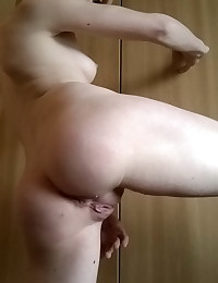 Horny slutty girlfriend fingers her tight pussy and asshole as her boyfriend takes closeup pictures to share with us
